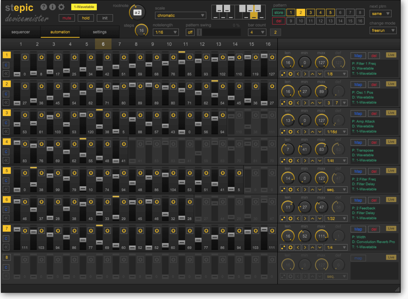 Devicemeister Stepic Modulation View